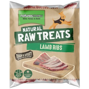 ONLY AVAILABLE FOR LOCAL DELIVERY. Natures Menu Frozen Dog Chew. Lamb Ribs