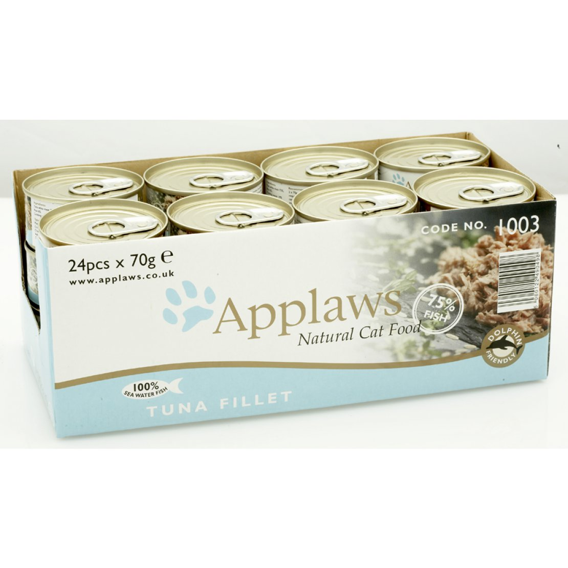 ONLY AVAILABLE FOR LOCAL DELIVERY. Applaws Cat Food Can. Tuna Fillet. Small
