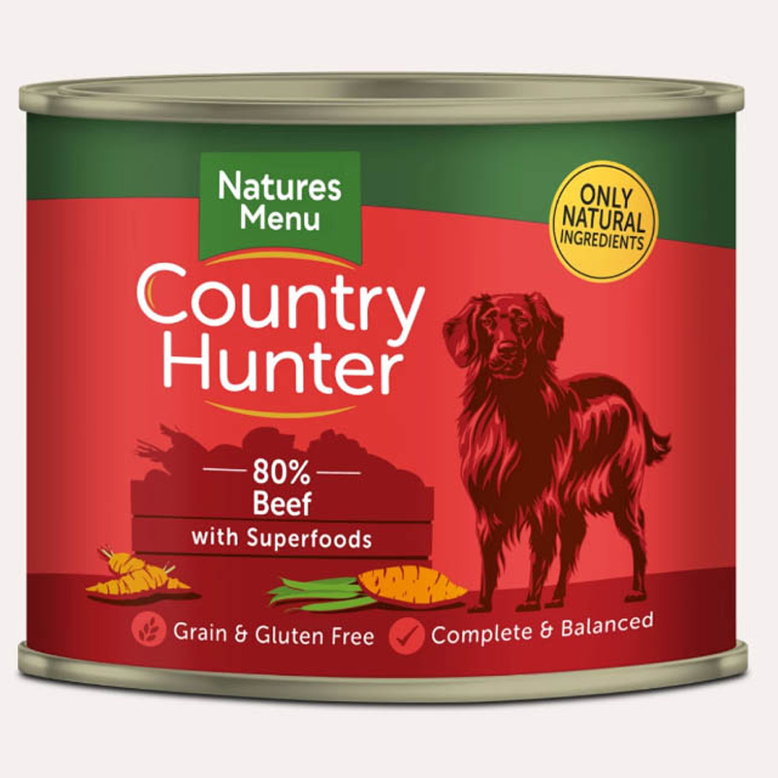 ONLY AVAILABLE FOR LOCAL DELIVERY.Country Hunter Dog Food Can. Beef. 6Pk.