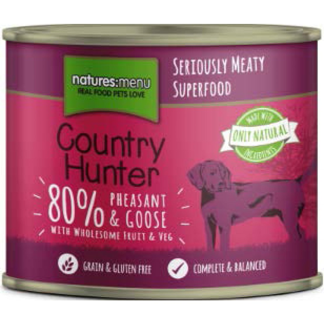 ONLY AVAILABLE FOR LOCAL DELIVERY. Country Hunter Dog Food Can. Pheasant & Goose. 6Pk.