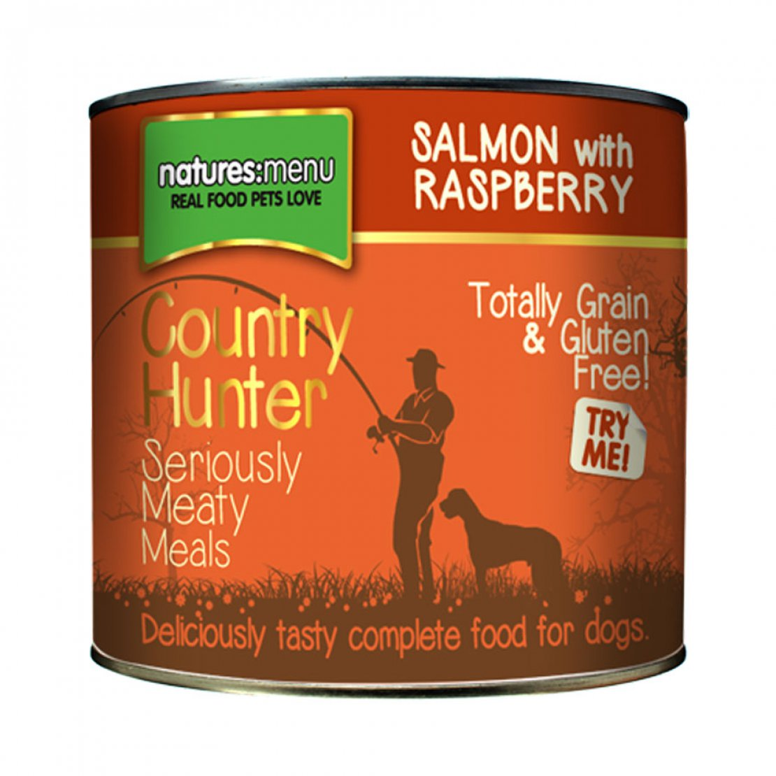 ONLY AVAILABLE FOR LOCAL DELIVERY. Country Hunter Dog Food Can. Salmon. 6Pk.