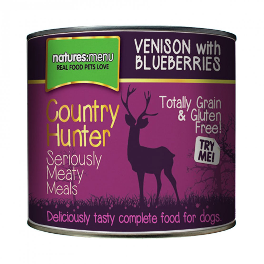 ONLY AVAILABLE FOR LOCAL DELIVERY. Country Hunter Dog Food Can. Venison. 6Pk.