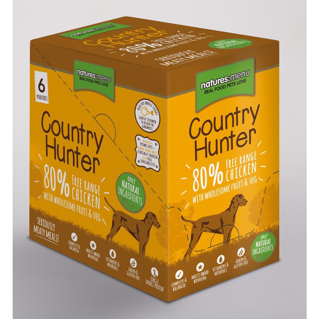 ONLY AVAILABLE FOR LOCAL DELIVERY. Country Hunter Dog Food Pouch. Chicken. 6pk.