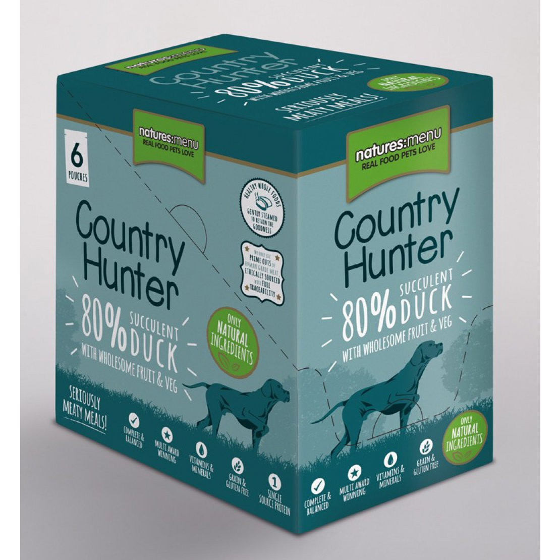 ONLY AVAILABLE FOR LOCAL DELIVERY. Country Hunter Dog Food Pouch. Duck. 6Pk