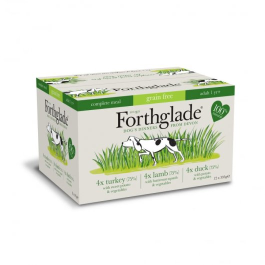 ONLY AVAILABLE FOR LOCAL DELIVERY. Forthglade Grain Free Dog Food Tray. Variety. 12pk