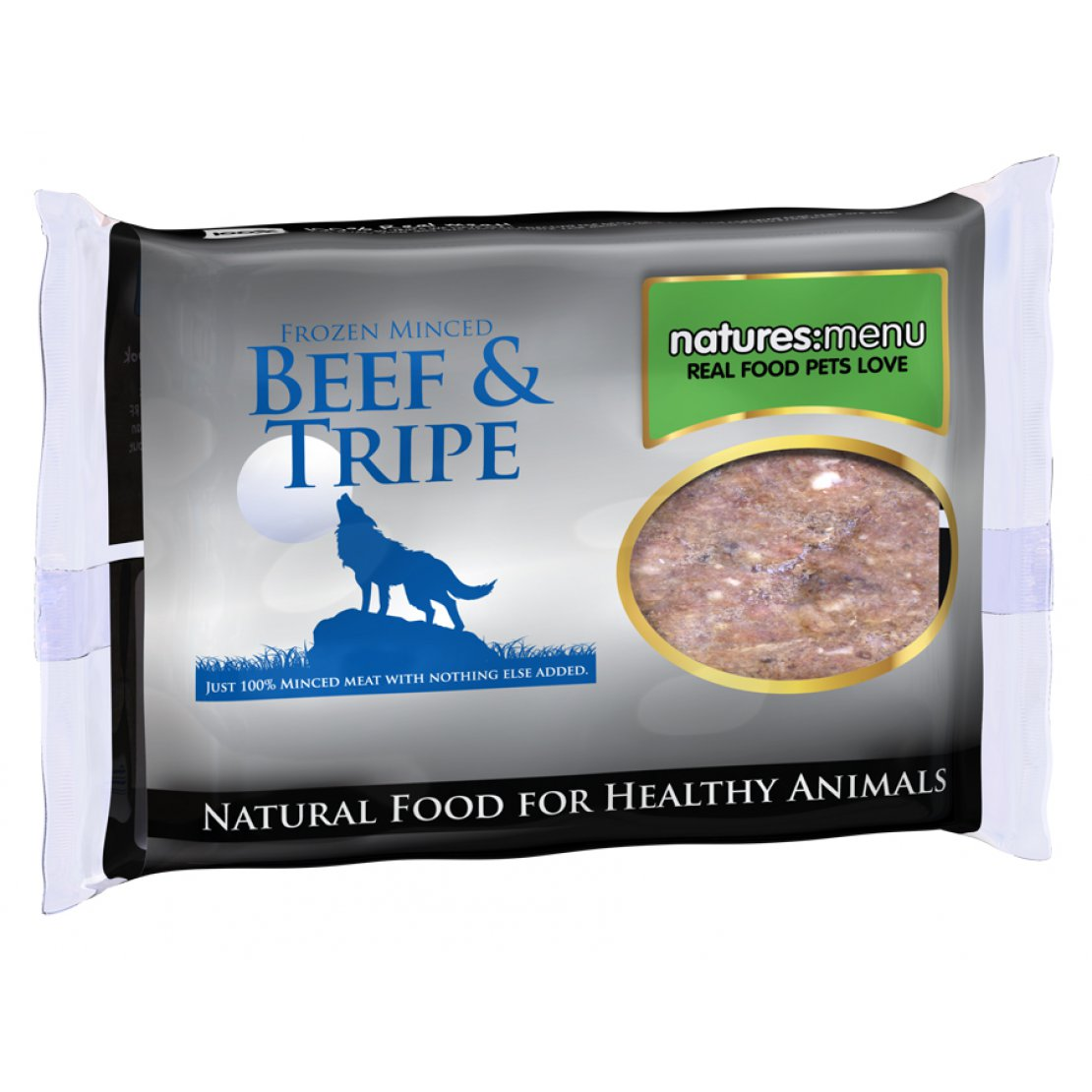 ONLY AVAILABLE FOR LOCAL DELIVERY. Natures Menu Frozen Dog Food. Beef & Tripe Mince