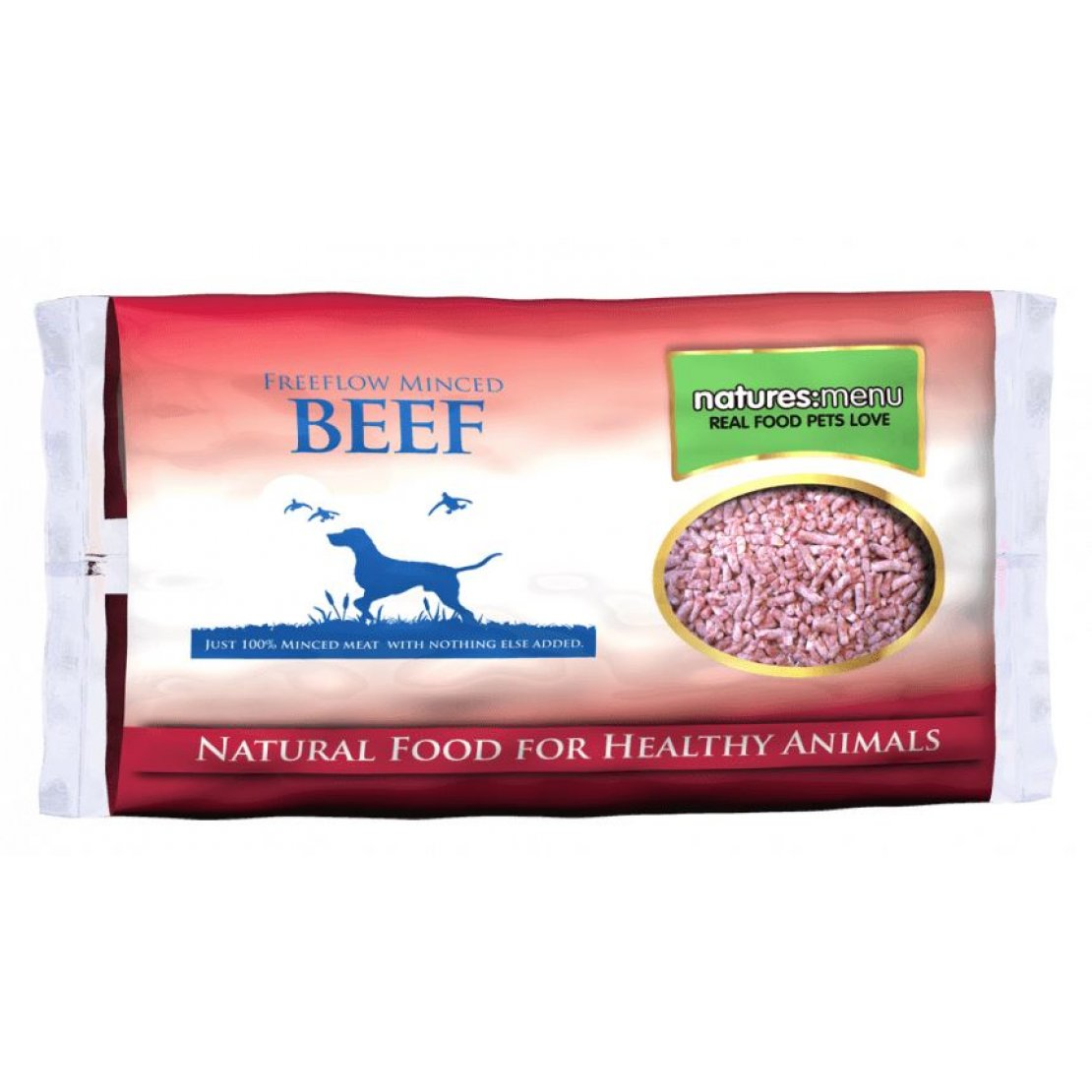 ONLY AVAILABLE FOR LOCAL DELIVERY. Natures Menu Frozen Dog Food. Freeflow Beef.