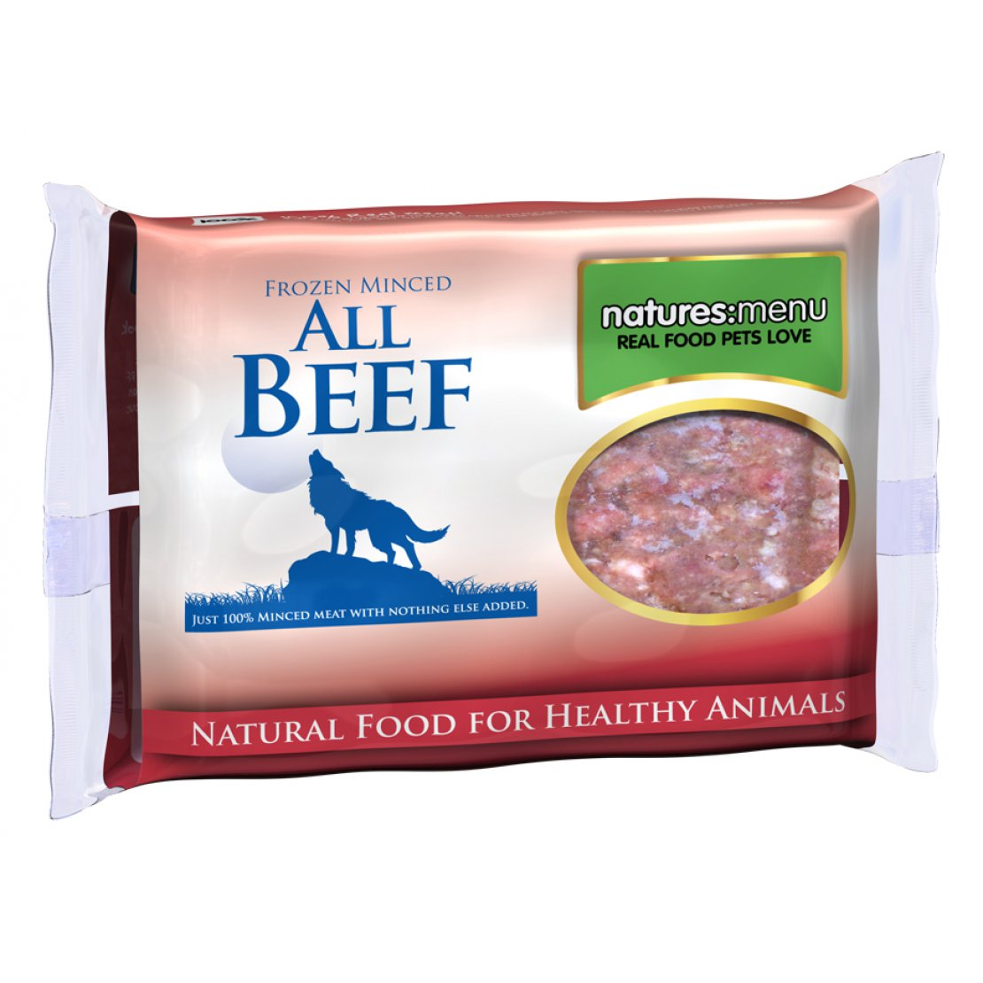 ONLY AVAILABLE FOR LOCAL DELIVERY. Natures Menu Frozen Dog Food. Beef Mince