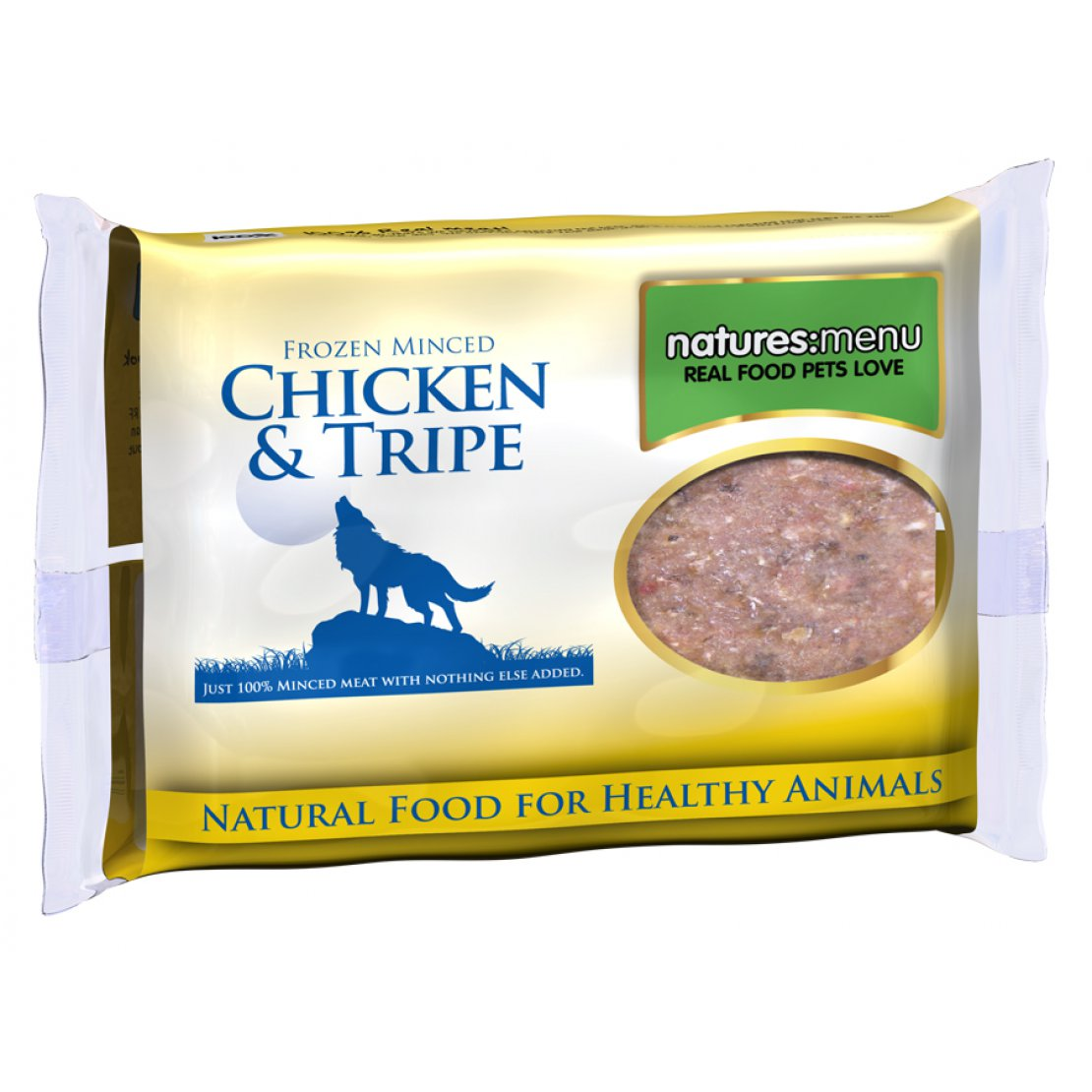 ONLY AVAILABLE FOR LOCAL DELIVERY. Natures Menu Frozen Dog Food. Chicken & Tripe Mince