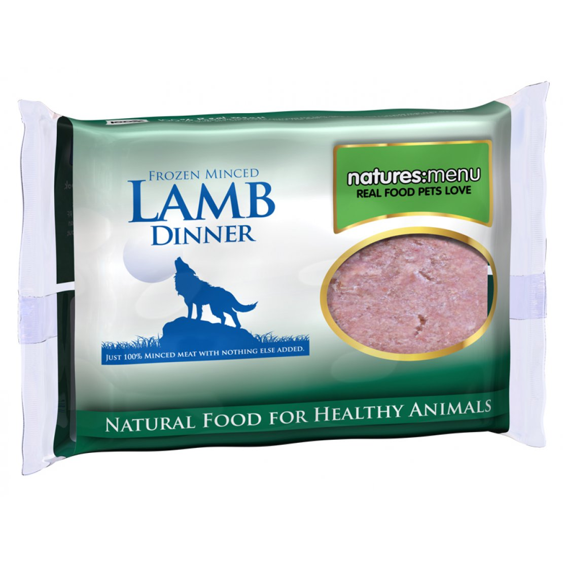 ONLY AVAILABLE FOR LOCAL DELIVERY. Natures Menu Frozen Dog Food. Lamb Mince