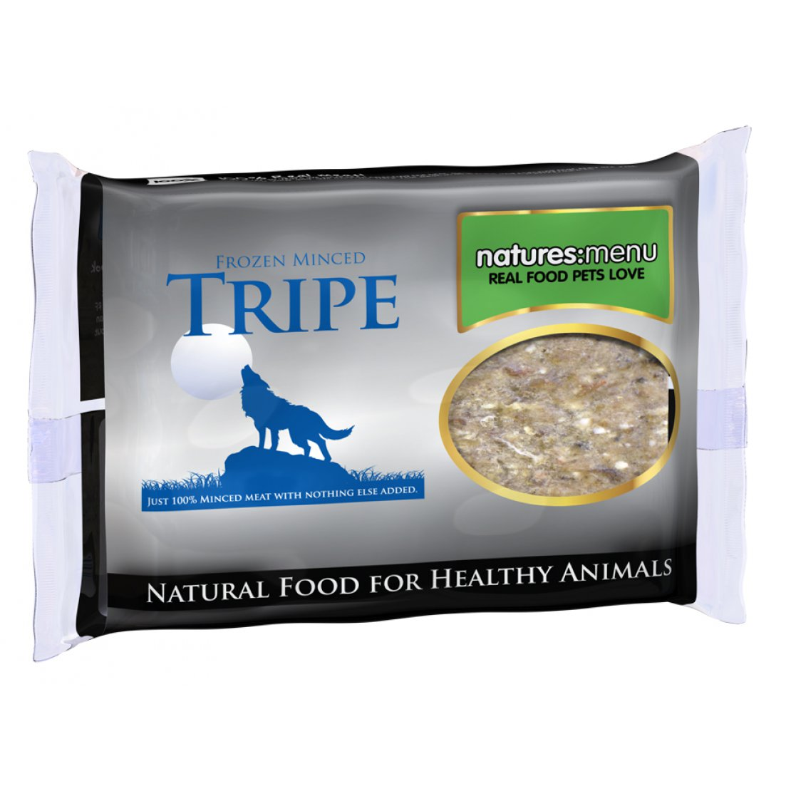 ONLY AVAILABLE FOR LOCAL DELIVERY. Natures Menu Frozen Dog Food. Tripe Mince