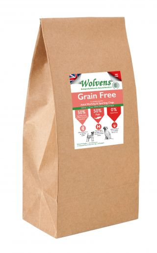Wolvens Grain Free Dog Food. Salmon